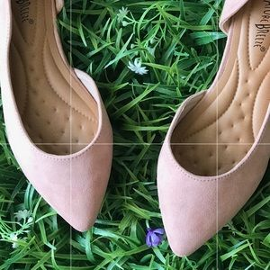 Nature Breeze Pointed Toe Comfortable Blush Flats
